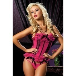 Seven Til Midnight Licence To Thrill Corset - Pink