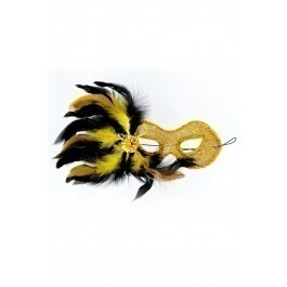 Maskarade Madam Butterfly Ventian Mask - Gold