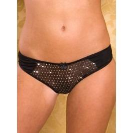 Paris Hollywood Sequinned Panties - Black