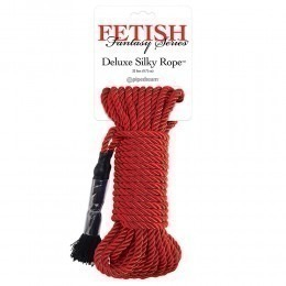 Fetish Fantasy Series Deluxe Silky Rope 9.75M - Red