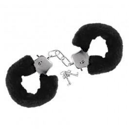 Furry Fun Handcuffs Plush - Black