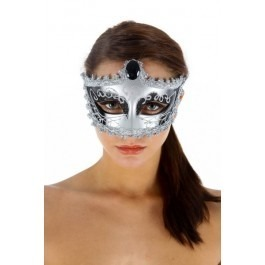 Marriage of Figaro Venetian Mask - Silver
