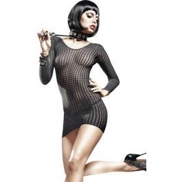Baci Afterdark Long Sleeve Fishnet Mini Dress