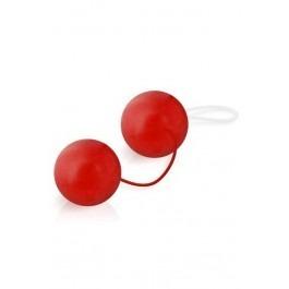 Latex Coated Orgasm Duo Ben Wa Balls - Red