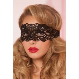 Seven Til Midnight Galloon Lace Eye Mask - Black
