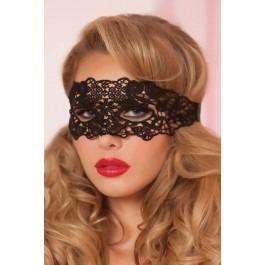 Seven Til Midnight Galloon Lace Eye Mask - Black