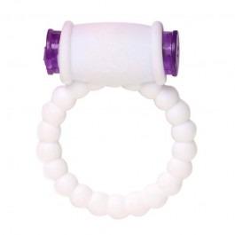 Super Pleasure Vibrating Penis Ring - White