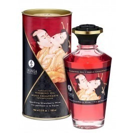 Shunga Aphrodisiac Oil Intimate Kisses Strawberry 100ml