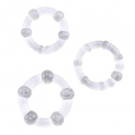 Triple Cock Ring Set (3 Pack) - Clear