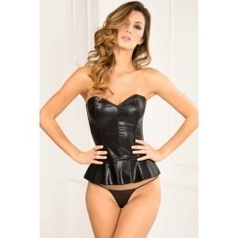 Rene Rofe Flair For Fire Leather Bustier & G-Set