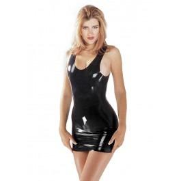 Sharon Sloane Latex Rubber Sexy Mini Dress - Black
