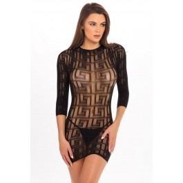 Rene Rofe Exotic Geometry Mini Dress - Black
