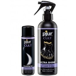 Pjur Cult Latex Shiner Spray and Dressing Aid Combo Kit