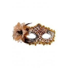Tosca Leopard Venetian Mask