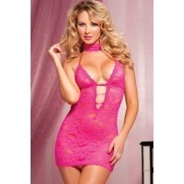Seven Til Midnight Affair Halter Tie Chemise - Pink