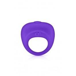 Glamy Vibrating Penis Ring - Purple