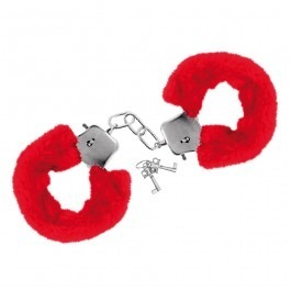 Furry Fun Handcuffs Plush - Red