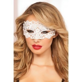 Seven Til Midnight Galloon Lace Eye Mask - White