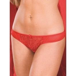 Paris Hollywood Sequinned Panties - Red