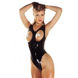 Sharon Sloane Latex Rubber Boobless Body - Black